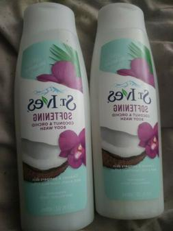 2 St. Ives Softening Body Wash, Coconut and Orchid, 13.5 Oz