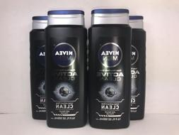 4  Nivea Men Deep Clean Body Wash, Active Clean Scent, 16.9
