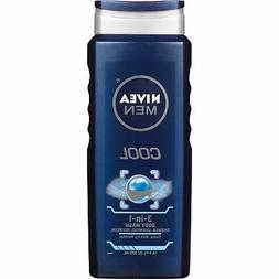 NIVEA Men Cool 3-in-1 Body Wash 16.9 Fluid Ounce