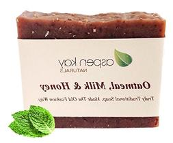 Oatmeal Soap Bar. With Organic Honey, Goats Milk, & Organic
