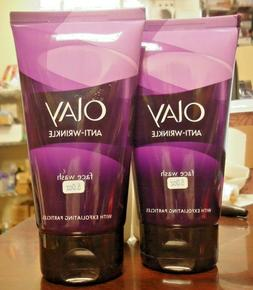 Olay Anti-Wrinkle Face Wash Age Defying Cleanser Exfoliating
