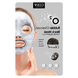 COS.W Charcoal O2 Bubble Face Mask  Moisturizes, Tones and P