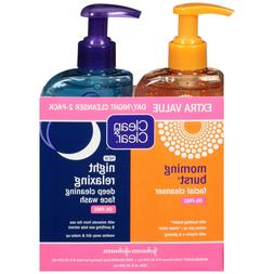 Clean & Clear 2-Pack of Day & Night Face Wash with Citrus Mo
