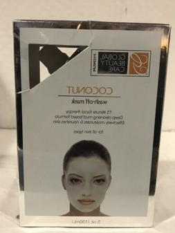 Global Beauty Care COCONUT Wash Off Mask Mud Face Treatment,