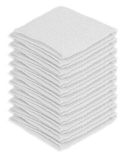DecorRack 100% Cotton Wash Cloth, Luxurious Soft, 12 x 12 in