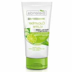 Bielenda CUCUMBER & LIME 3in1 FACE WASH Gel+Scrub+Serum COMB