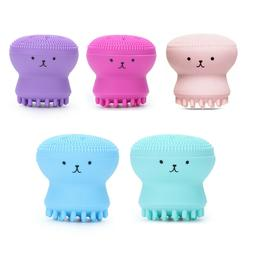 Cute Octopus Face Wash Brush for Cleansing Exfoliating Scrub