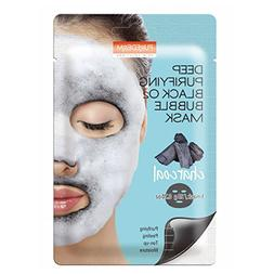 Deep Purifying Black O2 Bubble Mask By Purederm: 10 Charcoal