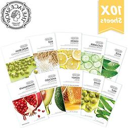 The Face Shop Facial Mask Sheets , Real Nature  Full Face Ma