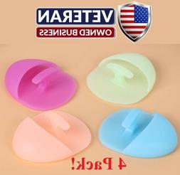 face wash pad 4 pack!   facial scrubber exfoliator silicone