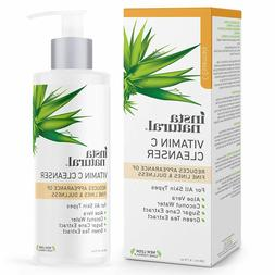 InstaNatural Vitamin C Cleanser Face Wash Wrinkle Reducing E