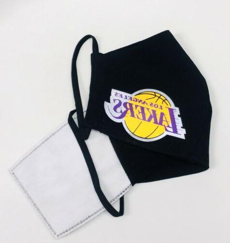 Adult FABRIC LAKERS Reflective Face Mask LeBron !