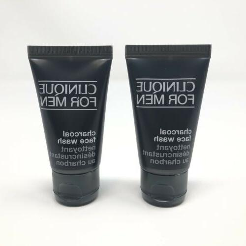 2 x for men charcoal face wash