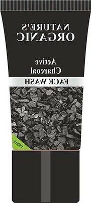 2 X Natures Essence Organic Active Charcoal Face Wash 150 ml