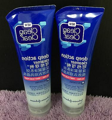 2x Clean and & Clear Deep Action Cleanser Face Wash Bulk w/R