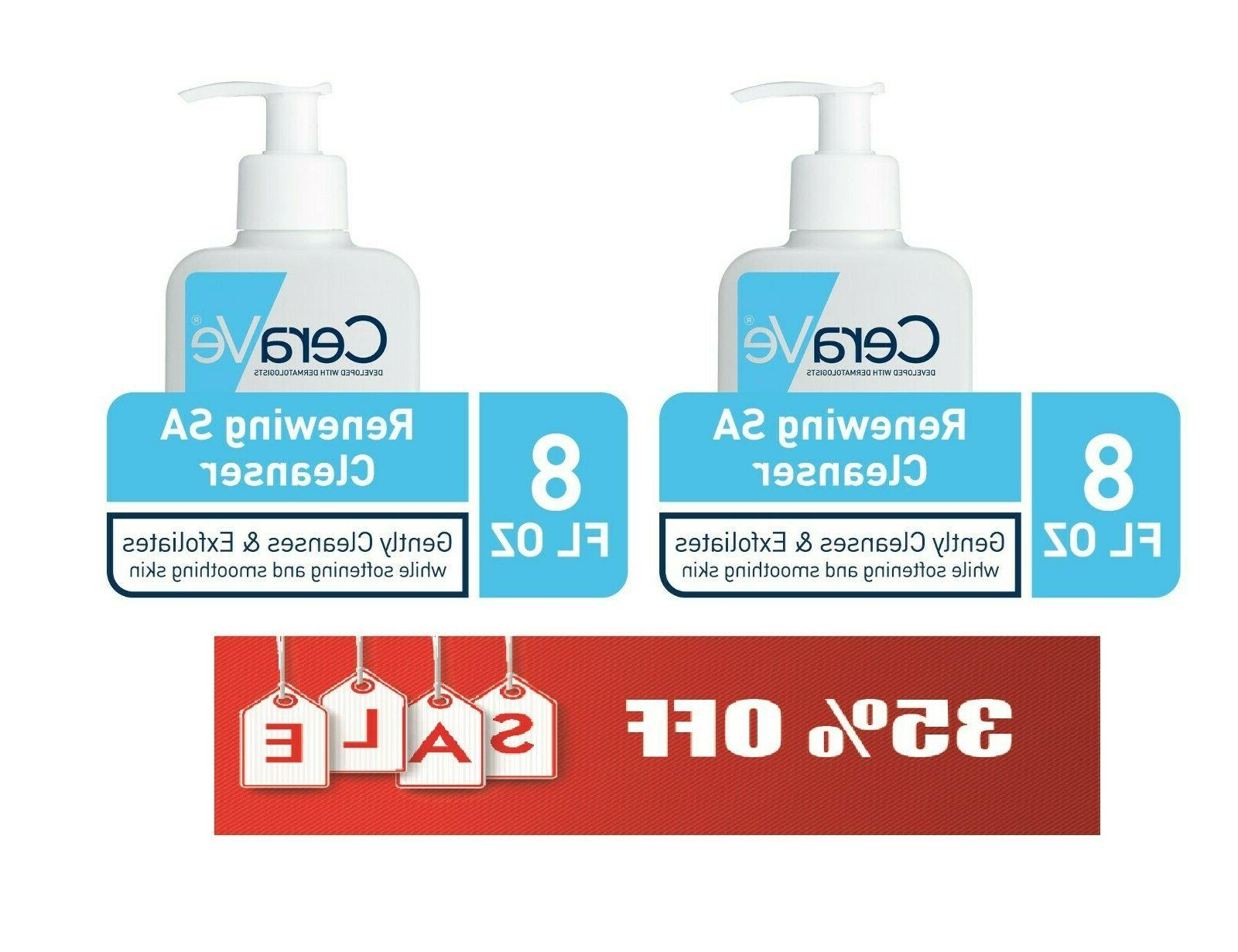 2x renewing sa face cleanser 8 fl