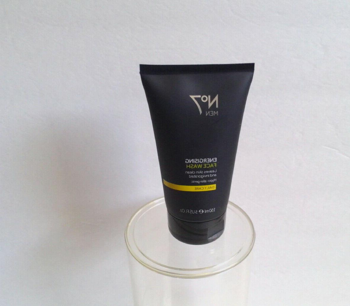 4 NO 7 MEN ENERGISING FACE WASH DAILY CARE 5oz EACH AA 12984