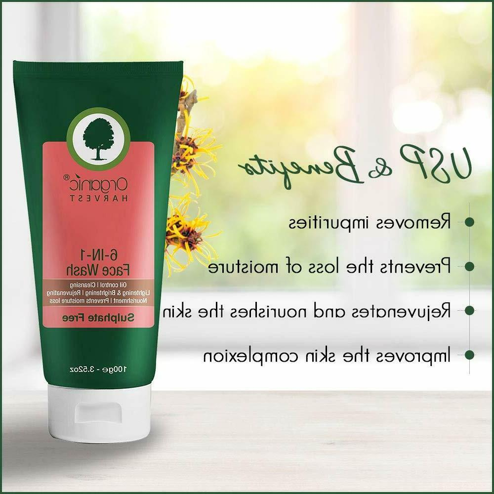 Organic 6-in-1 Wash Control, Cleansing 100g Free Shipping