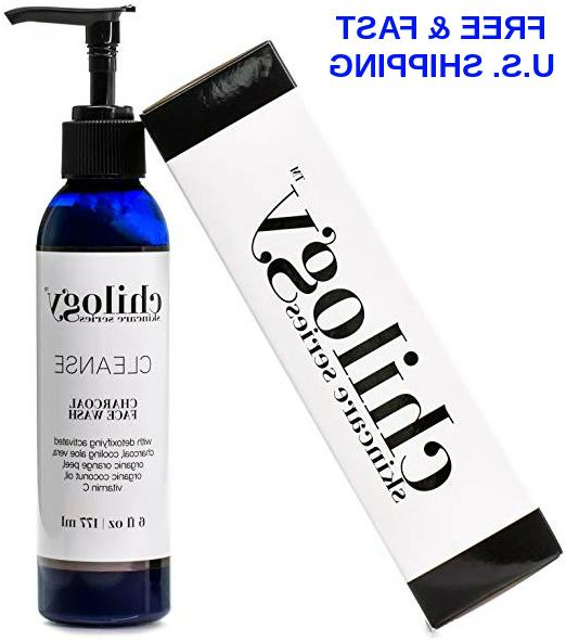CLEANSE Charcoal Face Wash by Chilogy, All Natural Anti Agin