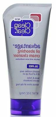 Clean & Clear Oil Absorbing Cream Facial Cleanser with Salic