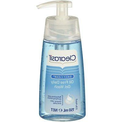 Clearasil Oil Free Daily Gel Wash 150ml  Helps Clear And Pre