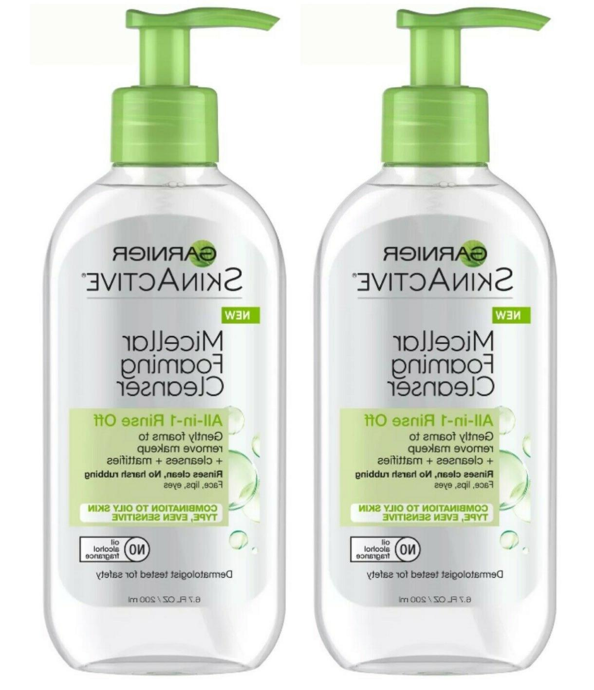 Garnier SkinActive Micellar Foaming Face Wash for Oily Skin,