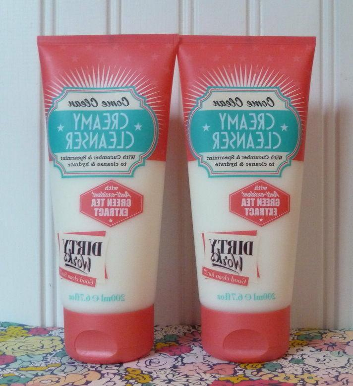LOT OF 2 DIRTY WORKS - CREAMY CUCUMBER & SPEARMINT FACE CLEA