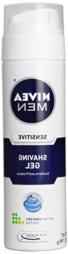 Nivea For Men Shaving Gel, Sensitive, 7 oz