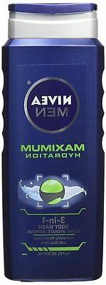 Nivea Men Maximum Hydration 3-in-1 Body Wash, 16.9 fl oz