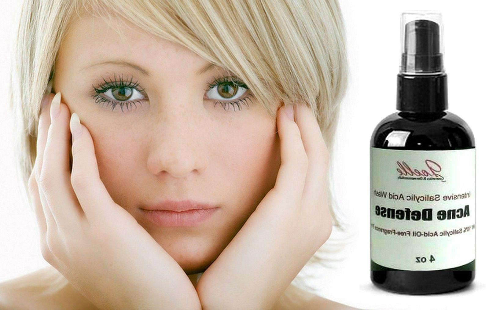 Salicylic Acid Face Wash 100% Natural Organic Acne Cleansing