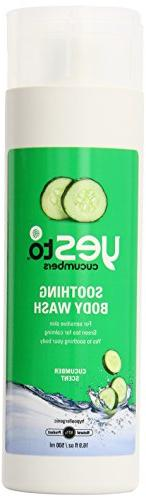 Yes To Cucumber Soothing Body Wash, Cucumber Scent, 16.9 Flu