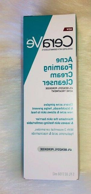 acne foaming cream cleanser treatment face wash