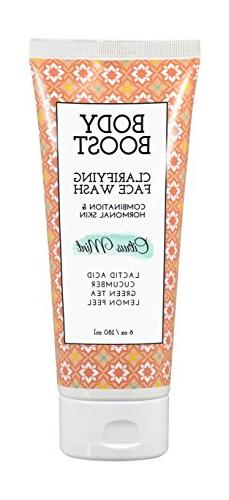 Body Boost Clarifying Daily Face Wash, Citrus Mint, 6oz- Pre
