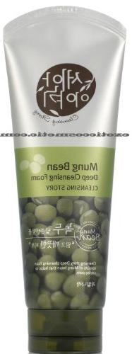 New Cleansing Story Natural Deep Facial Foam Cleanser - Gree