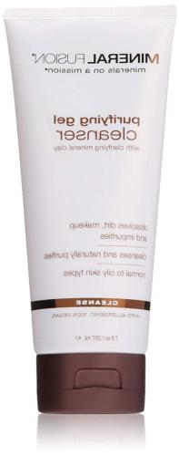 Mineral Fusion Facial Cleanser, Purifying Gel, 7 Ounce