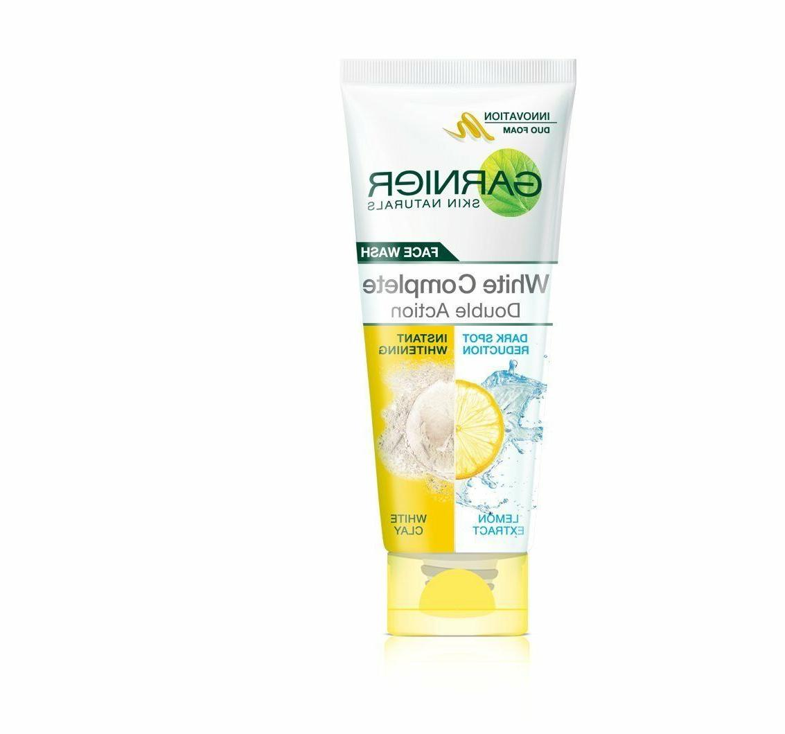 Garnier light Complete Double Action Face Wash 100ml free sh