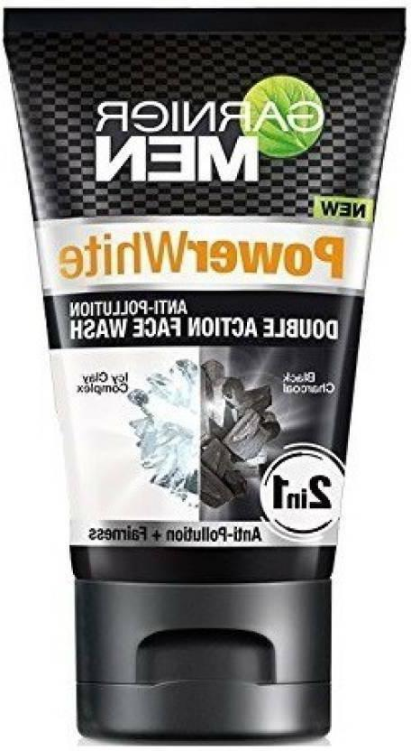 Garnier Men Power White Double Action Face Wash with Black C