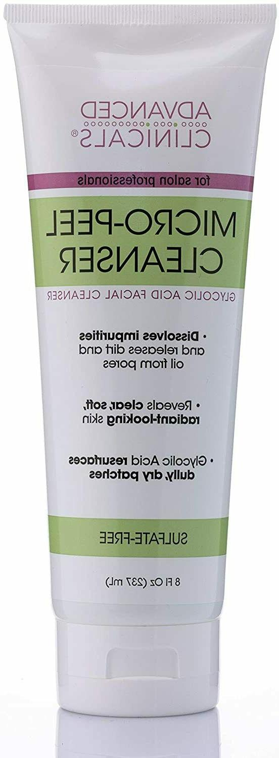 Advanced Clinicals Micro-Peel Glycolic Acid Facial Cleanser