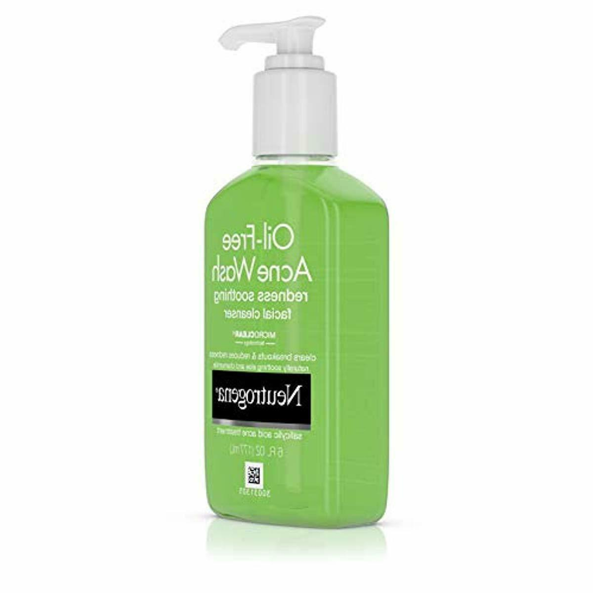 Neutrogena Oil-Free and Redness Face Wash with