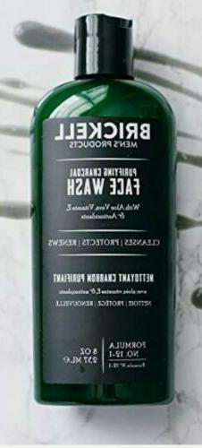 NEW * Brickell Men's Purifying Charcoal Face Wash Natural Or