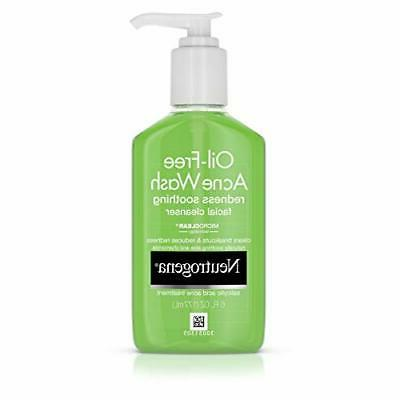oil free acne and redness facial cleanser