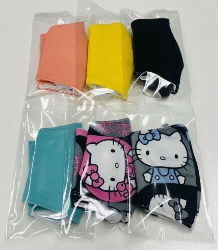 pack of 6 cute kids color fabric