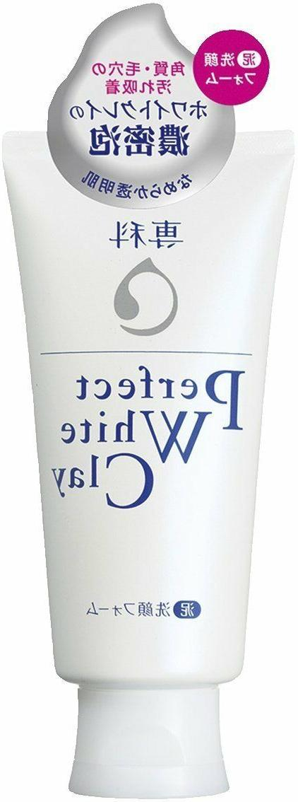 New Shiseido Perfect White Clay Cleansing Foam 120g From Jap