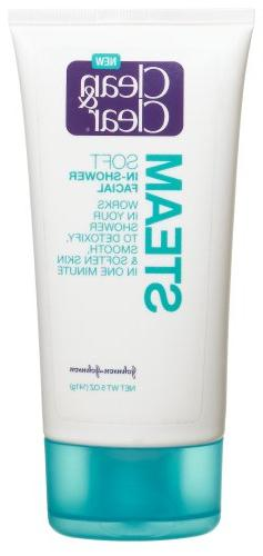 Clean & Clear Steam Soft In-Shower Facial, 5-Ounce Tubes