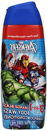 Avengers Body Wash 3-In-1 20 Ounce Supercharge Cherry