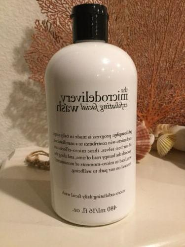 the microdelivery exfoliating facial wash 16 fl