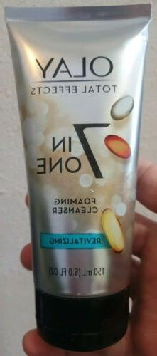 Olay Total Effects Face Wash, 7 In 1 Foaming Cleanser, 5.0 F