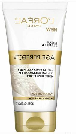 2 L'Oreal Paris Age Perfect Cream Cleanser Tubes Face Wash F