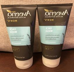 Lot of 2 Aveeno Active Naturals Men's Face Wash Fragrance Fr