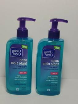 lot of 2 Clean & Clear Acne Triple Clear Facial Cleanser w S